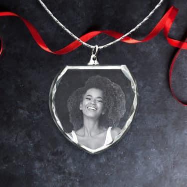 3D Pendant Necklace: Smiling Woman