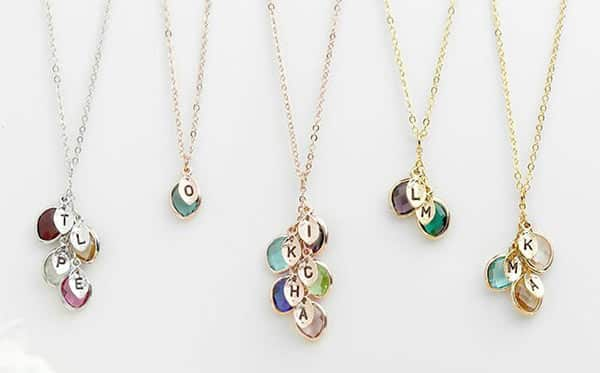 Personalized Birthstone Initial Necklace by Etsy Jewelry Designer
