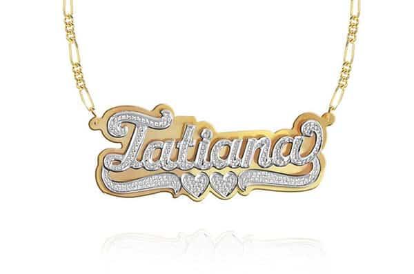 Custom Handmade 3D Diamond Nameplate Necklace by KetiSorelyDesigns