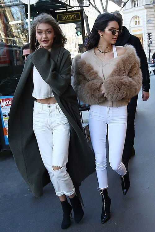 Top Models Gigi Hadid and Kendall Jenner Shopping in Paris Ahead of the Victoria's Secret Fashion Show