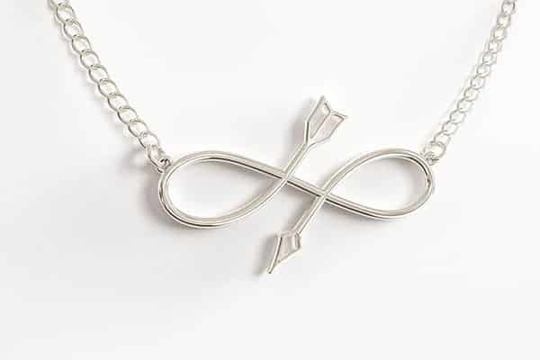 Malin Arrow Infinity Pendant Necklace: Symbolizing Following Your Path