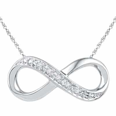Personalized Infinity Diamond Pendant Necklace by Zales