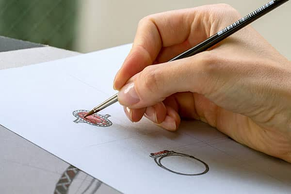 To Customize a Ring: Draw Sketch of Your Dream Ring and Talk With Professional Jeweler