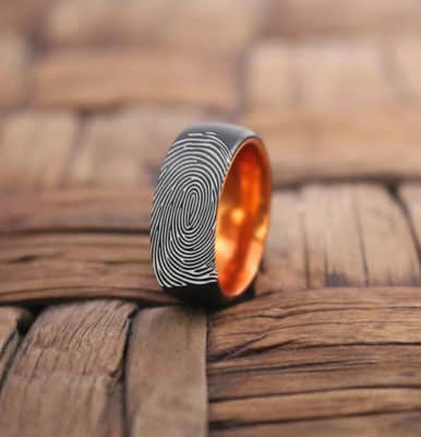 Exclusive Identity: Custom Fingerprint Ring as an Anniversary Gift