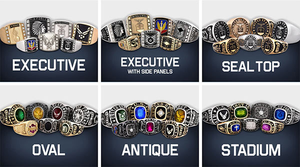 U.S. Air Force Military Rings: A Wide Range of Styles Available