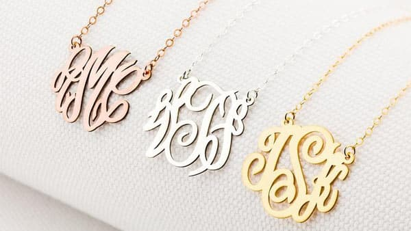 Personalized Monogram Necklace by CustomBirtes Etsy