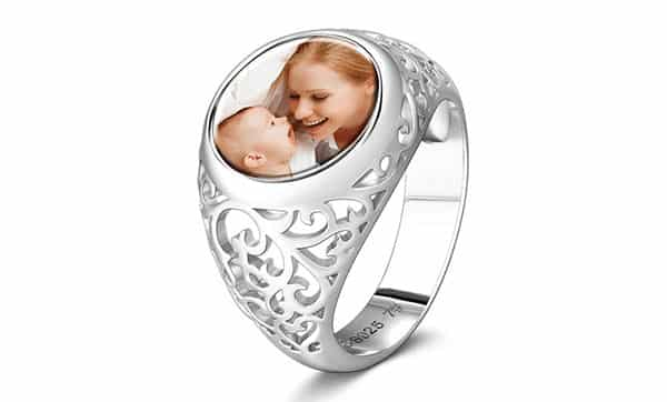 Custom Mother's Photo Ring by Soufeel: Anti-Oxidation