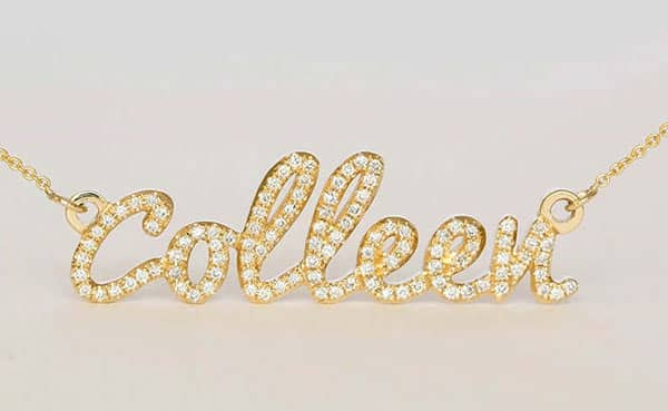 Amazing Custom Name Necklace With Diamonds on Every Letter