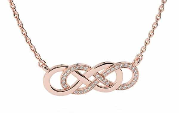 Etsy Rose Gold Double Infinity Necklace: Infinities Intertwined With Each Other