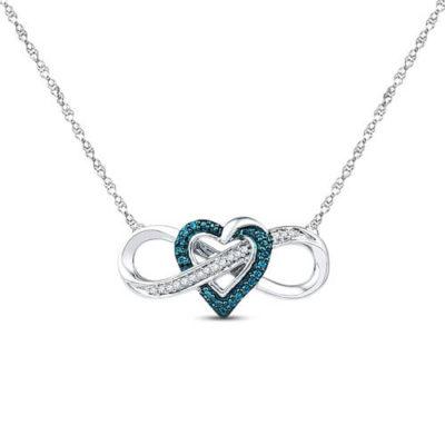 Heart Infinity Necklace: A Heart Added to the Center of an Infinity Symbol Base