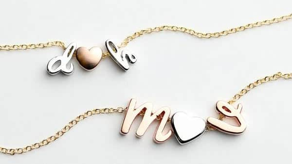 Love Message Gift for Your Loved One: Initial Heart Necklace
