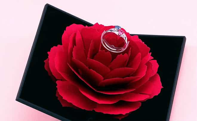 Soufeel Innovative Red Rose Ring Box