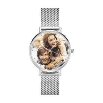 Women's Engraved Alloy Bracelet Photo Watch Customized by Soufeel