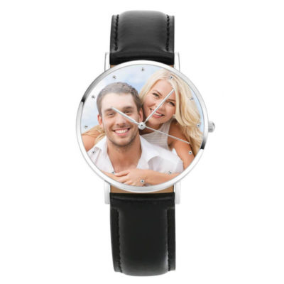 Soufeel Classic Photo Watch With Black Leather Strap