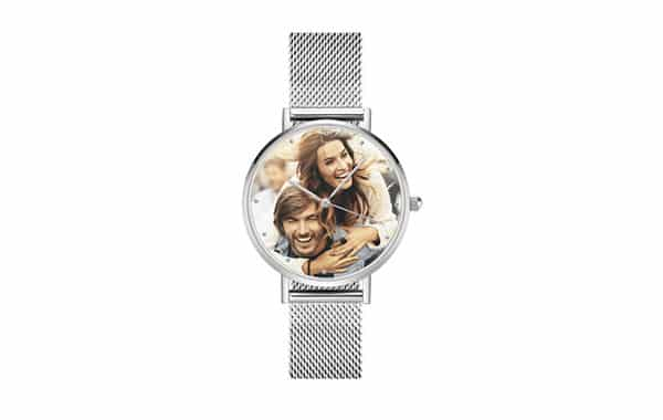 Couple Photo Printed on Alloy Photo Watch: Crafted by Soufeel