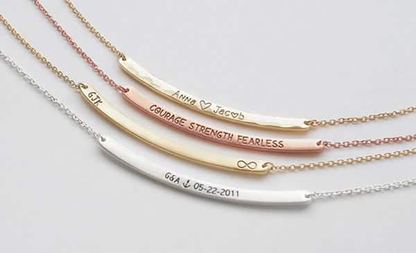 Curved Bar Necklaces by GildaLaneJewelry, Etsy