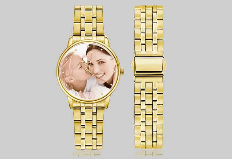 Custom Gold Photo Watch