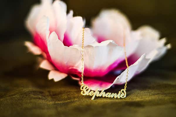 14K Gold-Plated Silver Stephanie's Soufeel Carrie Necklace on a Flower Setting