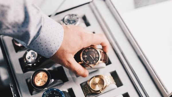 Different Types of Watches Stored in a Watch Box