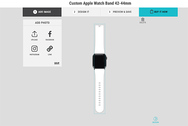 Skinit Custom Apple Watch Band: Upload Pictures and Design Online