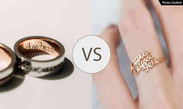 Conventional Ring (With Name Engraved On the Inside the Ring) V.S. Name Ring