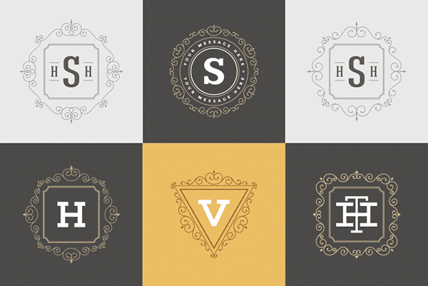 Different Monogram Patterns: One Letter, or Two, Three Letters