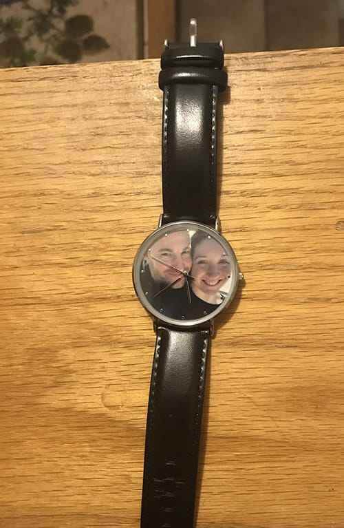 Custom Engraved Photo Watch on Wooden Setting (Soufeel)