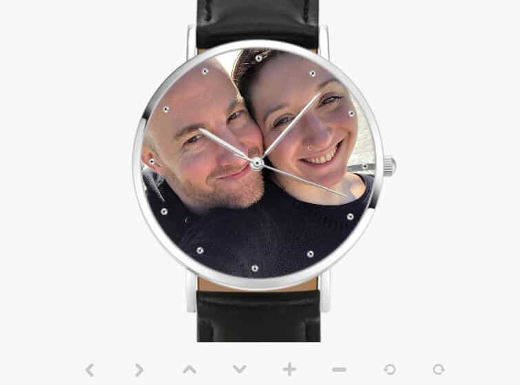 Real-Time Preview of Stephanie's Soufeel Custom Engraved Photo Watch