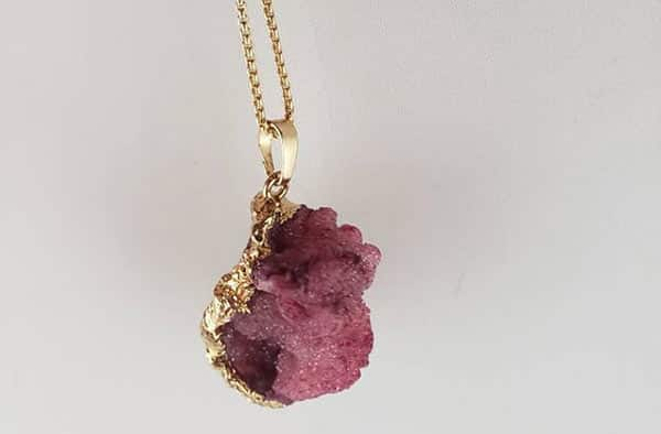 Purple Tourmaline Raw Stone Necklace by Rachel Anna, Etsy