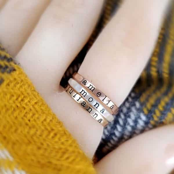 Stackable Name Rings Designed by Brodi and Kelsey / Etsy