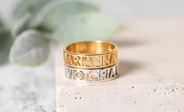Cut-Out Style Name Ring: For a Unique Look
