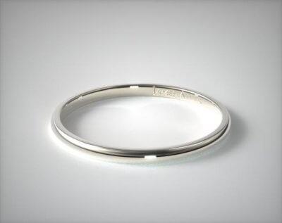 18K White Gold 2.0mm Traditional Wedding Ring