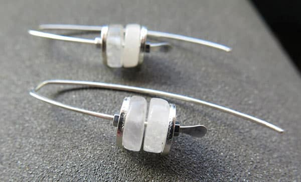 White Quartz Earrings: Paired With Sterling Silver
