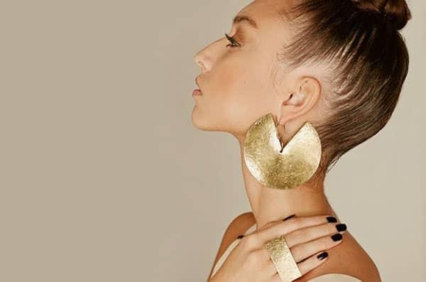 African Boho-Style Oversized Brass Earrings