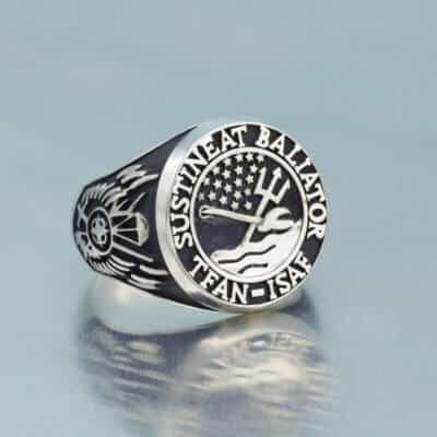 Military Signet Ring Designed for a Civilian Contractor Serving With U.S. Special Forces in Afghanistan