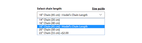 Chain Length Options for My Name Necklace's Classic Name Necklace [Bestseller]