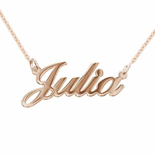 Reviewed Product Item: My Name Necklace Classic Name Necklace in Rose Gold