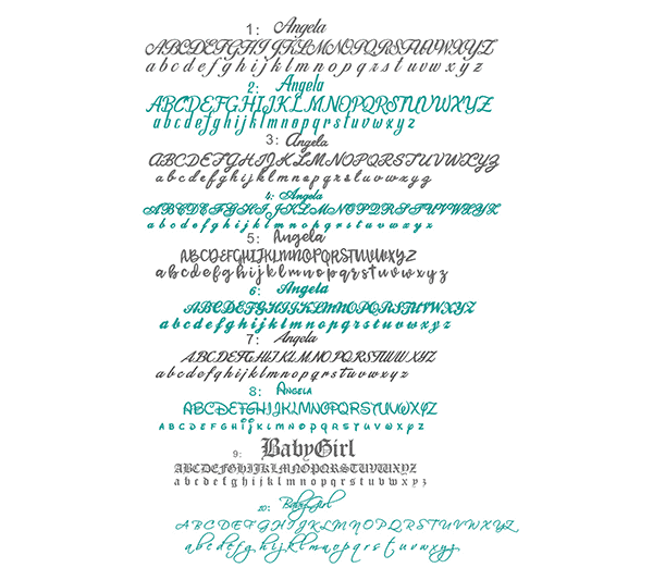 Different Types of Name Jewelry Fonts: Script, Cursive and More