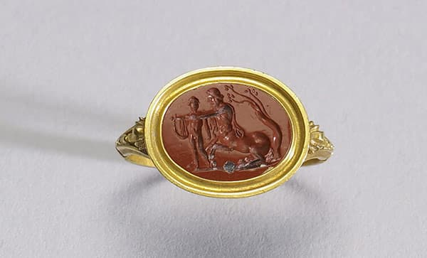 Gemstone Used as the Bezel Base of an Ancient Signet Ring