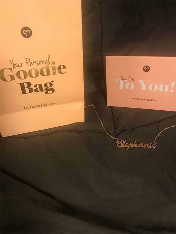 My Name Necklace's Gift Packaging: Gift Bag With the Necklace Item