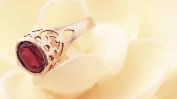 Classic Ruby Gemstone Jewelry: Yellow Gold Ruby Statement Ring