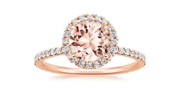 14K Morganite Rose Ring by Brilliant Earth