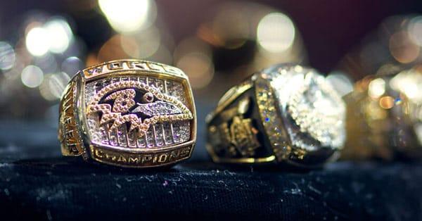 Baltimore Raven's Super Bowl Championship Ring From the 2000 Season Championship