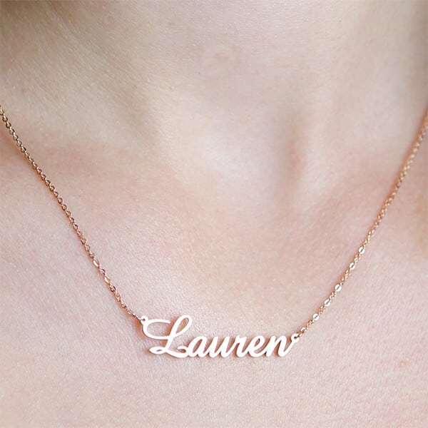 Reviewed Item: CaitlynMinimalist Personalized Name Necklace With Birthstone