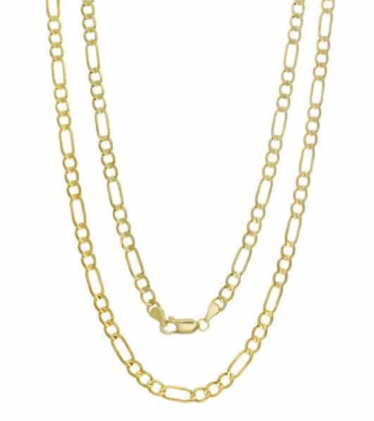 Italian Gold Figaro Chain From Overstock