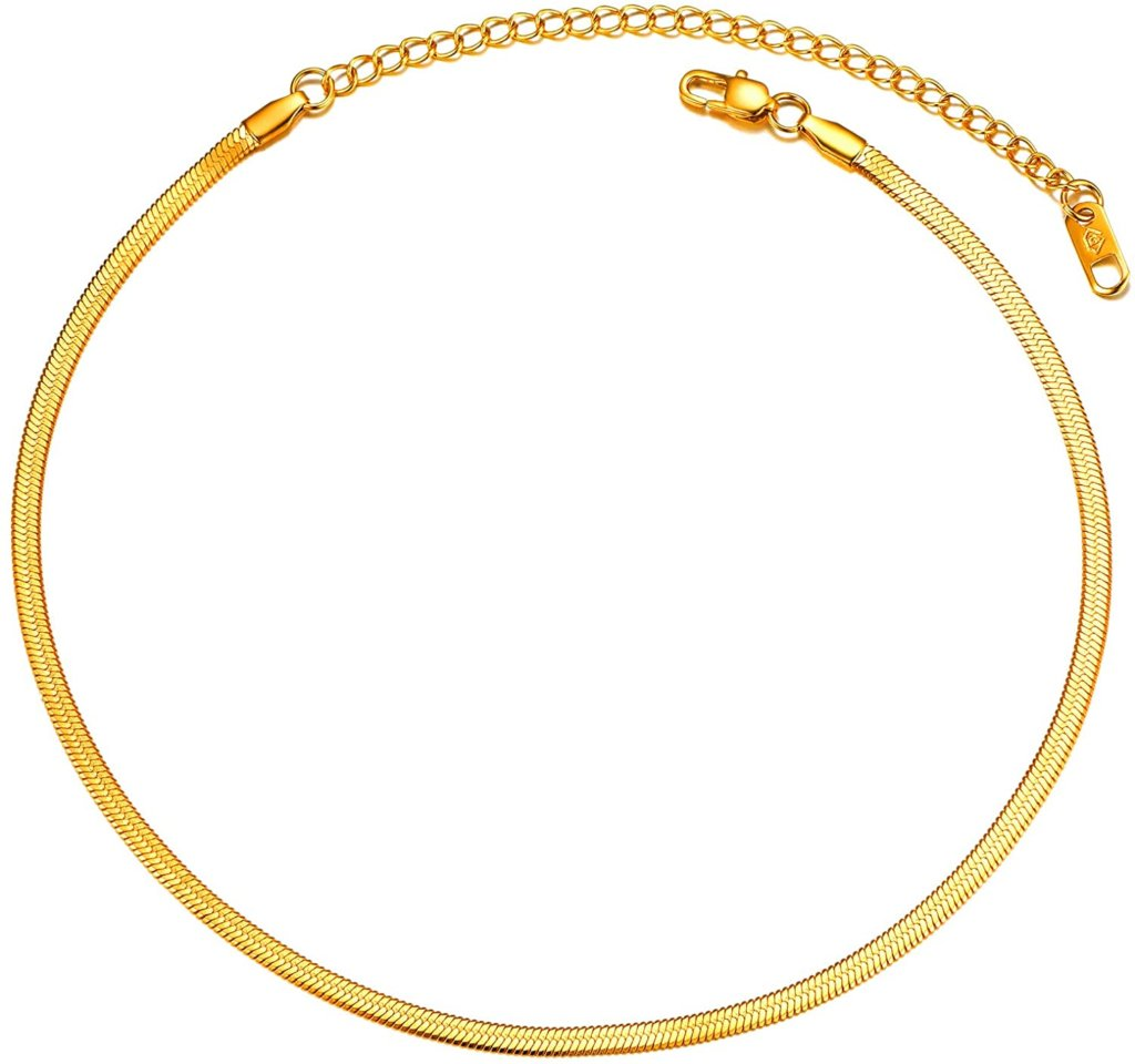 PROSTEEL Gold-Plated Snake Chain