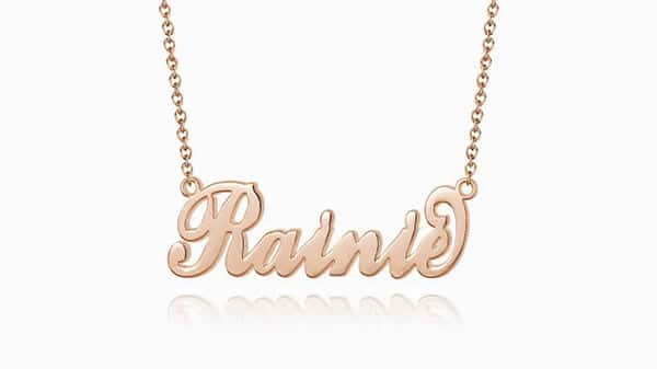 Soufeel Carrie Style Name Necklace in Rose Gold Plated (For Children)