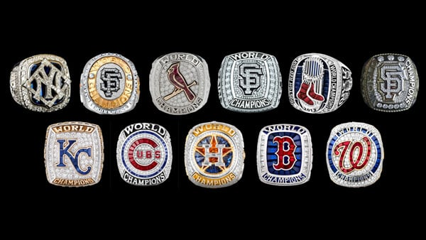 Examples of World Series Championship Rings