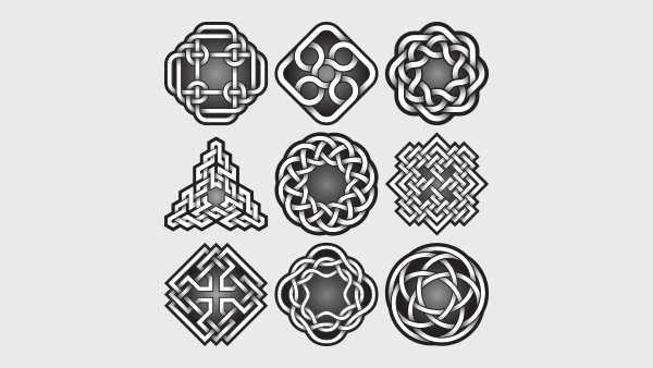 A Collection of Different Celtic Knot Designs