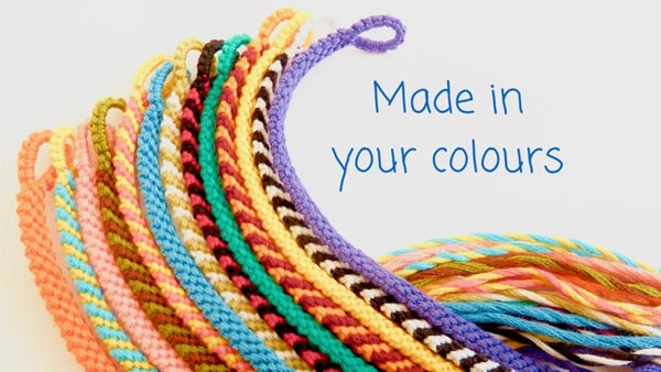 Custom Colored Friendship Bracelet With Your Choice of Knotting Style